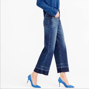 NYDJ HIGH RISE WIDE LEG JEANS W/ LET DOWN SEAMS